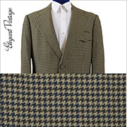 SALE Men's 1970s Houndstooth Check Sport Coat *Hilton Hotel, Hong Kong *42+