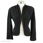 Very Chic Beaded 1940's Womens Jacket *Harzfeld's *S