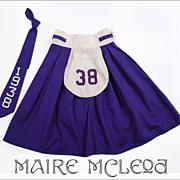 SALE Vintage 1938 Uniform Skirt & Tie - Cheerleader ?