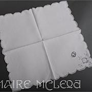 SALE 8 Vintage Italian Fine Linen Napkins *Needlelace Monogram