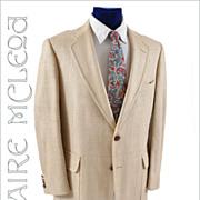SOLD 1960's Men's Raw Silk Sport Coat - Majer  41-42