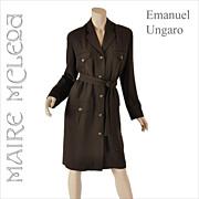 Vintage Emanuel Ungaro Knit Shirtwaist Dress - M / L