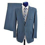 SOLD Men's 1970s Pinstripe Suit Western Look - Hart Schaffner Marx 38-40