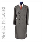 SALE PENDING Vntg 1960's Men's Gabardine Military Trench Coat Overcoat   43 - 44