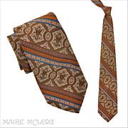 """SALE Oleg Cassini 1970's Men's Tie - Elegant Print  4"""""""