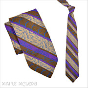 SALE Vintage Superba Lavender Brocade Men's Tie - 1950's