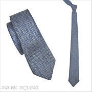 1950's Bronzini Silk Mens Tie, Blue   2-1/2""