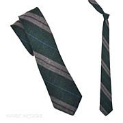 """Vintage 1950's Unlined Repp Skinny Necktie 2-1/2"""""""
