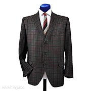 SALE 1960's Hart Schaffner Marx Cotton Plaid Sport Coat - 44-45