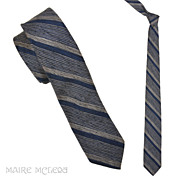 Ivy League 1950s Silk/Cotton Repp Stripe Men's Tie 2-1/4""
