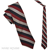 "Van Heusen Mens Vintage 50s Repp Stripe Tie 2-1/2"""