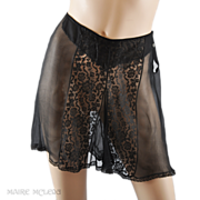 SALE 1930s Tap Pants Panties-Black Chiffon & Lace  S