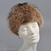 SALE Vintage 1960s Raccoon or Fox Fur Hat - Zhivago Style