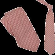 "SOLD 1920s Vintage Casual Silk Stripe Tie, DG Eldridge  3-1/2"""