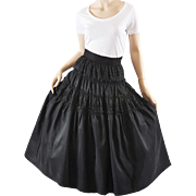 Fabulous 50s Tiered Taffeta Skirt, Party - Embroidered S / M