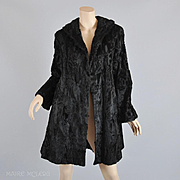 1940s Broadtail Lamb Fur Swing Style Coat, IJ Fox  - STUNNING  S / M