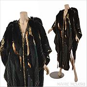Vintage Designer Kip Kirkendall 1980s Artwear Cloak Coat Cape