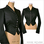Victorian 1880's A.L. Bowhay Equestrian Riding Jacket
