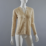 Hand Crochet Sweater 1960s, NOS Shanghai, China S
