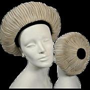 Vintage Hattie Carnegie Straw Halo Hat 30s-40s