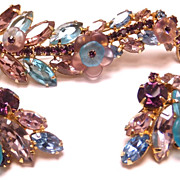 SALE Beautiful Alice Caviness Brooch and clip on earring set
