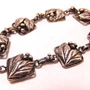SALE 1940s Sterling Silver twigs and berries Bracelet