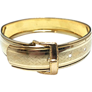 SALE Vintage Hayward Adjustable Gold Filled Buckle Bangle