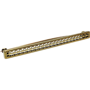 SALE Antique 14K yellow gold filigree stick Bar pin 3.5 g