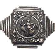 SALE Beautiful Sterling silver  Ganesh pin by Guglielmo Cini