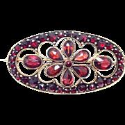 SALE Antique Bohemian Garnet cut out Brooch