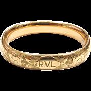 SALE Antique gold filled engraved hinged bangle bracelet