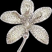 SALE Vintage 1950s rare Nettie Rosenstein Windstone trembler flower brooch