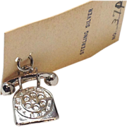 SOLD Vintage 1950s Sterling Silver rotary telephone charm