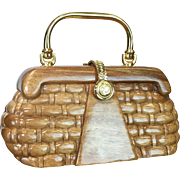 Timmy Woods Natural Sculpted Bag