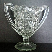 SALE Two Handled Glass Spoon Holder