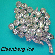 SALE Eisenberg Ice Floral Bouquet Brooch