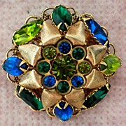 SALE Large Domed Multi – Layered  Brooch