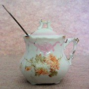 SALE German Porcelain Mustard / Jam Pot
