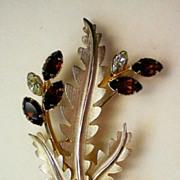 SALE 1/20 14K Gold Floral Brooch by A&Z