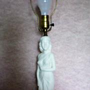 SALE Art Nouveau Statue of Lady ~ Figural Lamp