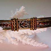 SALE Brass, Copper and Silver Knot Bracelet