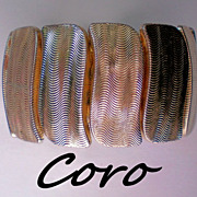 SALE Coro Signed Expansion Bracelet in Gold tone