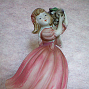 SALE Boudoir Figural Lamp ~ Girl with Basket