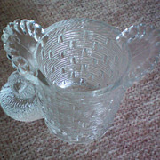 SALE Wright Glass Little Chick Clear Glass Toothpick Holder