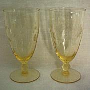 SALE Lancaster Jubilee Depression Ice Tea Glass or Water Goblet