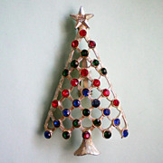 SALE Christmas / Holiday Tree with Rhinestone Decorations