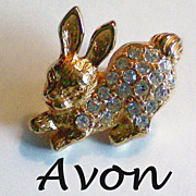 SALE Avon Easter Bunny Lapel Pin