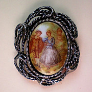SALE Portrait Brooch