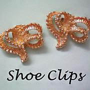 SALE Gold tone Shoe Clips