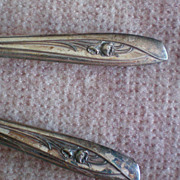 SALE I S Silver Company Silver Tulip Teaspoons - Set of Four